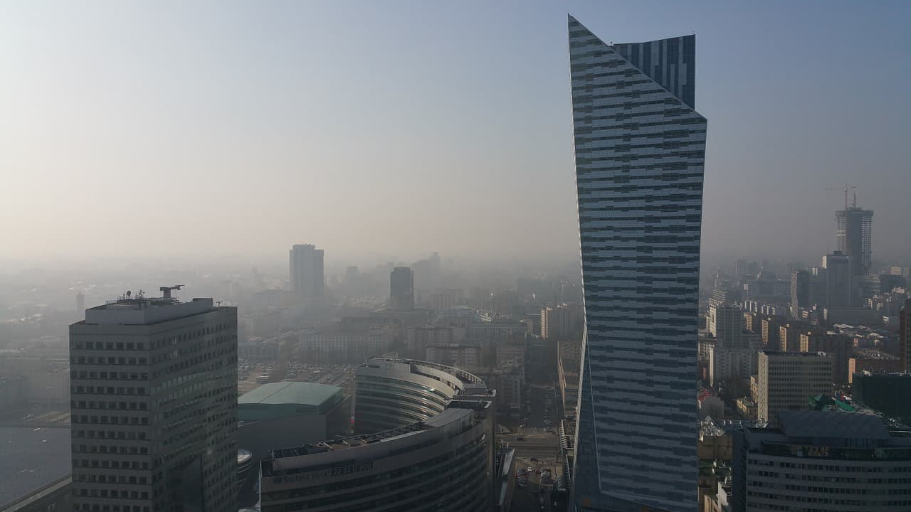 Warszawa, smog