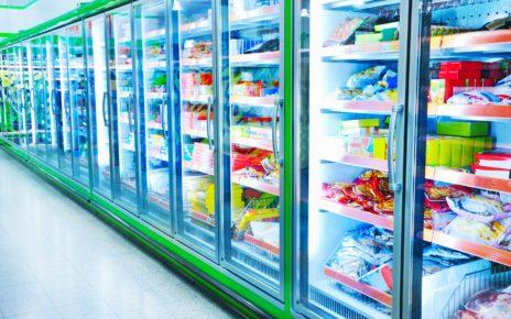 Frigde in supermarket