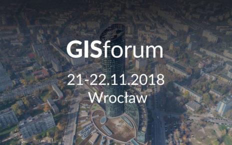 GISforum, 21-22 listopada 2018, Wrocław
